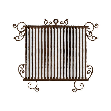 vintage birdcage icon over white background vector illustration Ilustração
