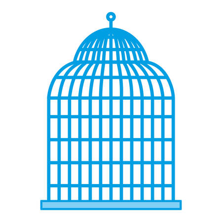 jail: Birdcage icon over white background vector illustration. Illustration