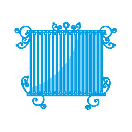 Birdcage icon over white background vector illustration. Illustration