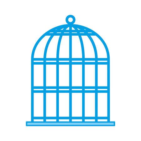 birdcage icon over white background vector illustration  イラスト・ベクター素材