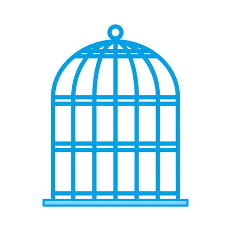 birdcage icon over white background vector illustration Illusztráció