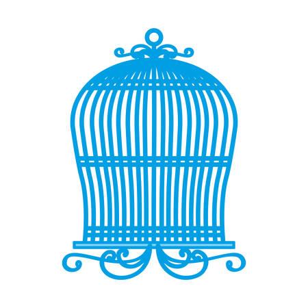 vintage birdcage icon over white background vector illustration Illusztráció