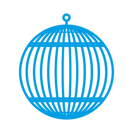 animal trap: birdcage icon over white background vector illustration Illustration