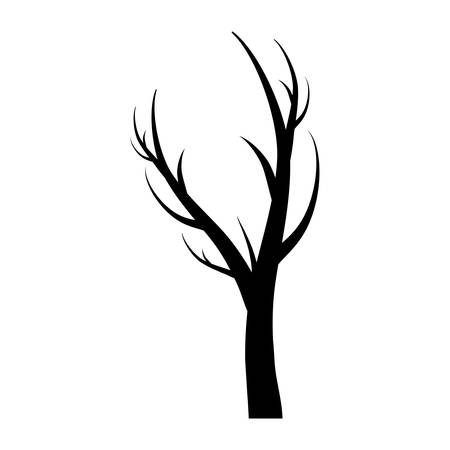 bark: dry tree icon over white background vector illustration