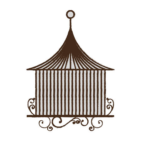 vintage birdcage icon over white background vector illustration Stock fotó - 80263575