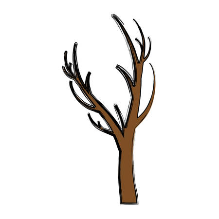 Dry tree icon over white background vector illustration.