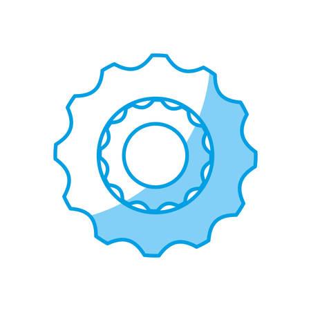 gear wheel icon over white background vector illustration Illustration