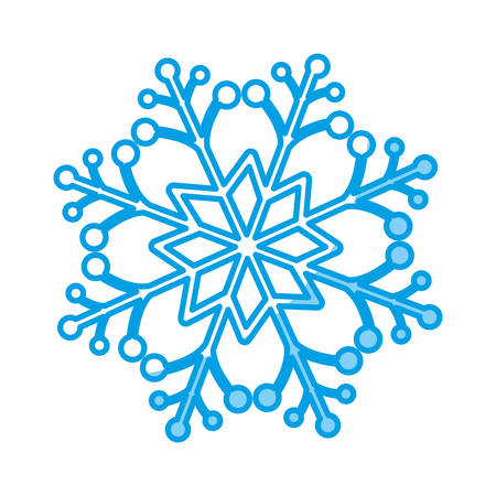 freeze: snowflake icon over white background vector illustration.