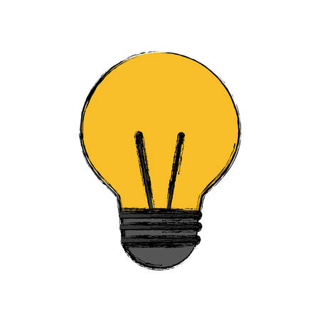 A light bulb icon over white background vector illustration.