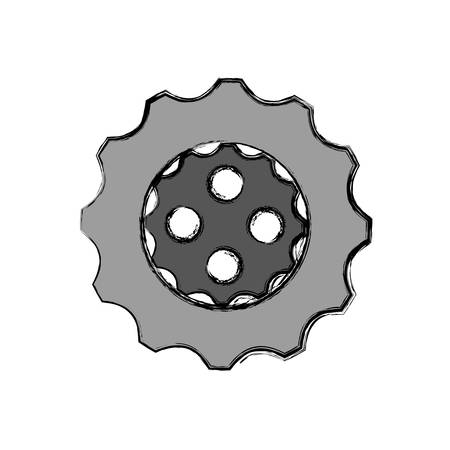 gearwheel: gear wheel icon over white background colorful design vector illustration