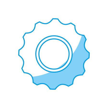 gearwheel: Gear wheel icon over white background vector illustration. Illustration