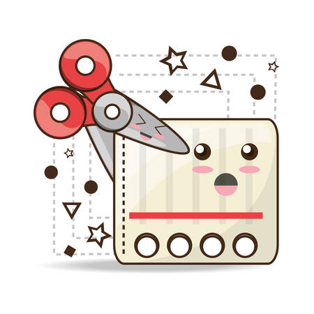 kawaii icons school tools to study education vector illustration Ilustração