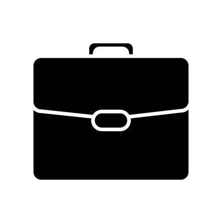 briefcase icon over white background vector illustration