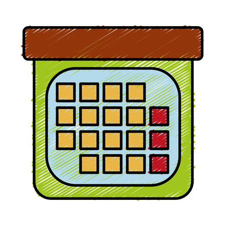 event planning: calendar icon over white background vector illustration