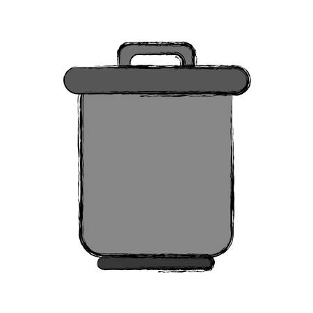 fresh idea: trash icon over white background vector illustration Illustration