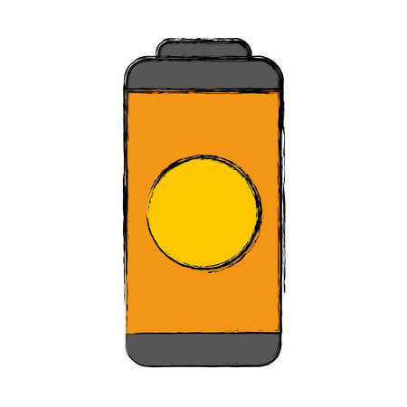 rechargeable: Battery icon over white background vector illustration