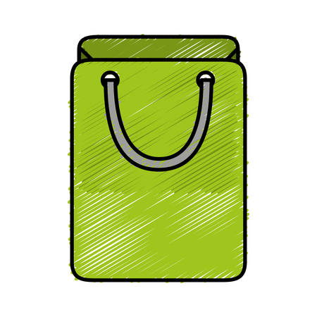 paying: Shopping bag icon vector illustration. Illustration