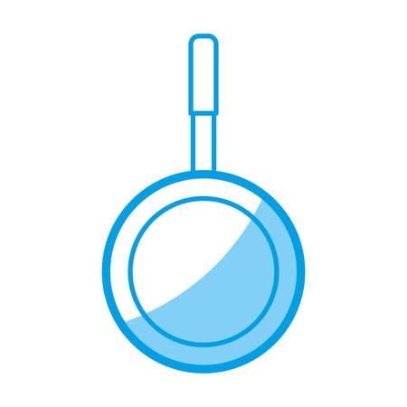 prepare: kitchen pan icon over white background vector illustration