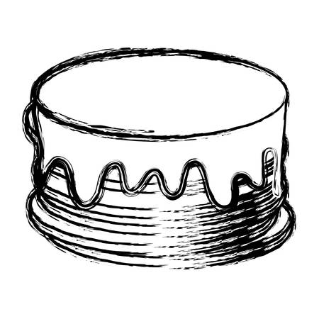 sweet cake icon over white background vector illustration