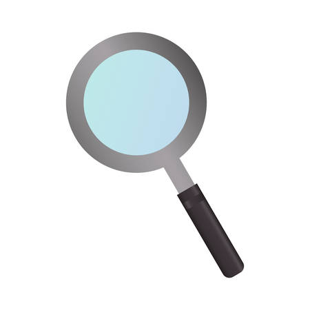 review site: magnifying glass icon over white background vector illustration