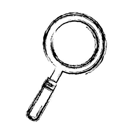 examine: lupe icon over white background vector illustration