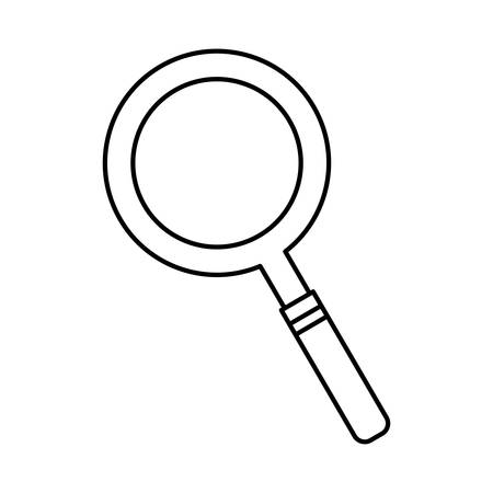 inspector: lupe icon over white background vector illustration