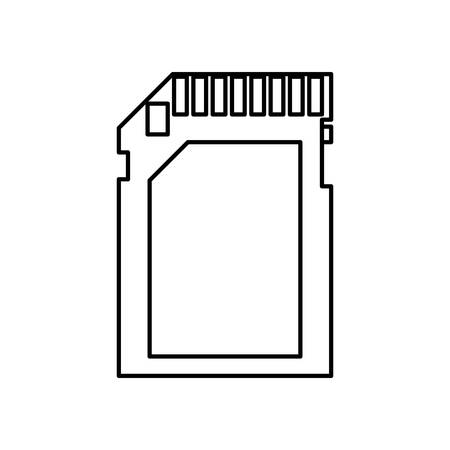 sd: A sd card icon over white background vector illustration. Illustration