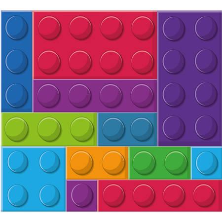 blocks toy background colorful design vector illustration