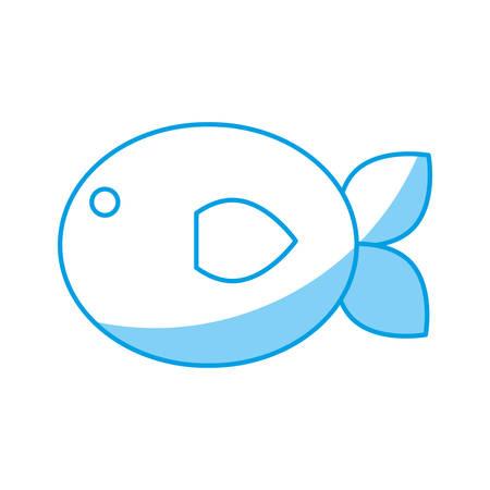 fish icon over white background vector illustration Ilustrace