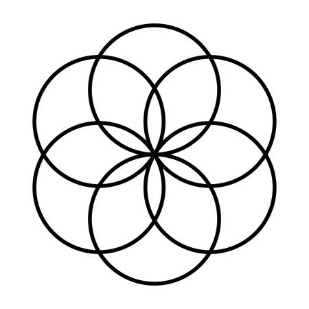 geometric figure icon over white background vector illustration