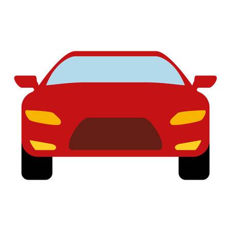 sport car icon over white background colorful design  vector illustration Illustration