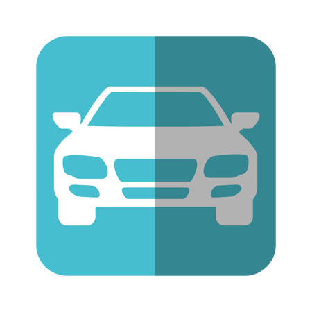 car tire: car icon over blue square and white background  vector illustration Illustration