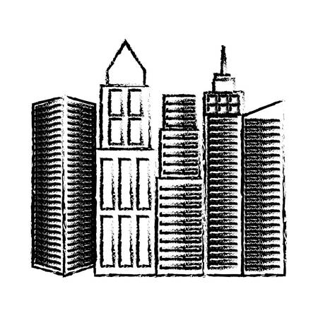 metropolitan: city buildings icon over white background vector illustration Illustration