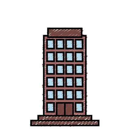 metropolitan: city building icon over white background colorful design vector illustration