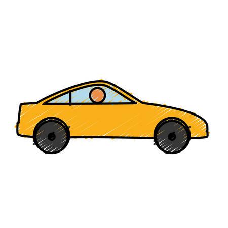 car tire: sport car icon over white background colorful design  vector illustration Illustration