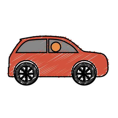 car icon over white background side view colorful design  vector illustration