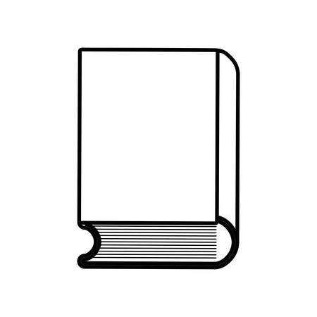 book icon over white background vector illustration