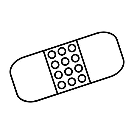 verband pictogram over witte achtergrond vectorillustratie