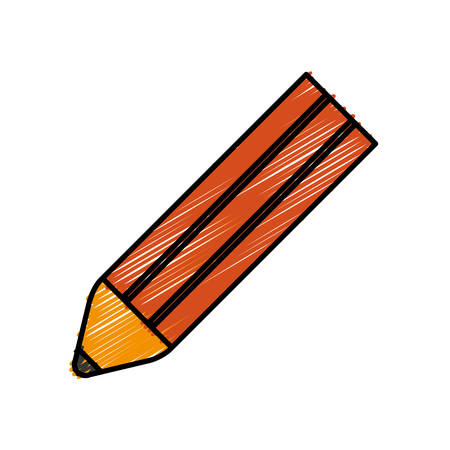 pencil icon over white background vector illustration