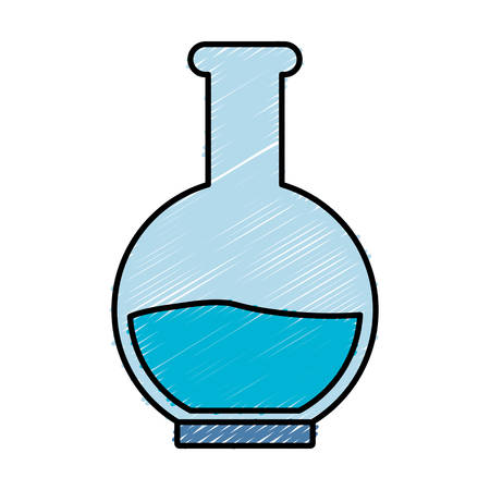 poison bottle: chemical flask icon over white background colorful design vector illustration