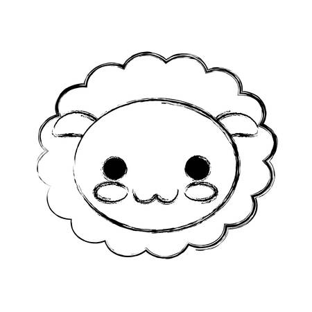 sheep icon over white background vector illustration Illustration