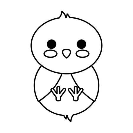 chicken  icon over white background vector illustration Illustration