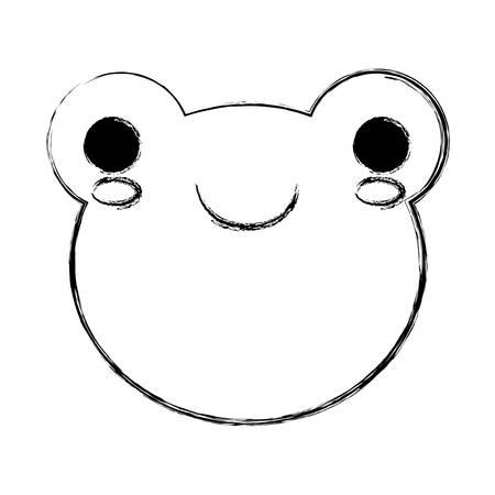 amphibian: frog icon over white background vector illustration Illustration