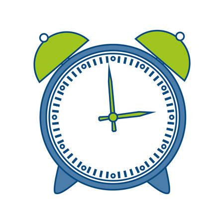 urgency: alarm clock icon over white background vector illustration