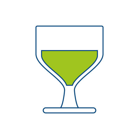 wine glass icon over white background vector illustration
