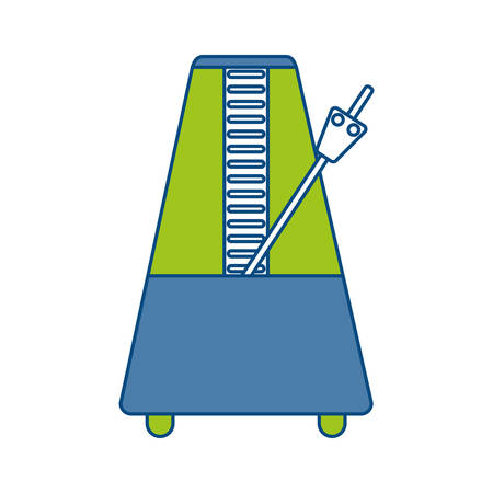 metronome icon over white background vector illustration