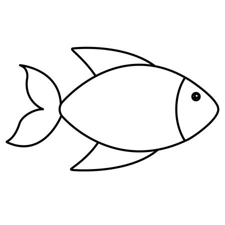fish icon over white background vector illustration Ilustração
