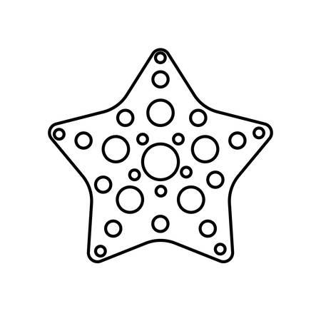 seastar icon over white background vector illustration Illustration