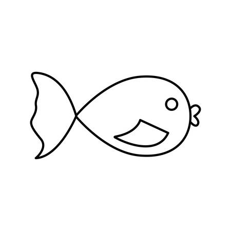 fish icon over white background vector illustration Illustration