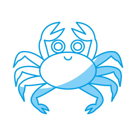crab icon over white background vector illustration
